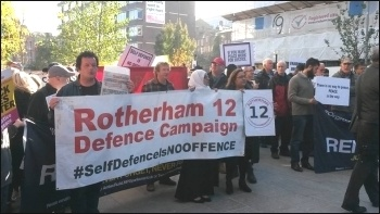 Rotherham 12 defence campaign, 6.10.16, photo by A Tice