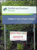 Fiddlers Ferry workers strike in solidarity with Lindsey Oil Refinery Construction workers, photo The Socialist