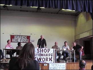 PCS vice-president John McInally addresses the National Shop Stewards Network conference 2009, photo Socialist Party
