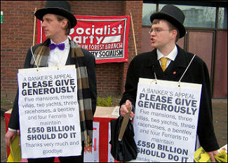 Socialist Party 'bankers' appeal for more cash, photo Senan