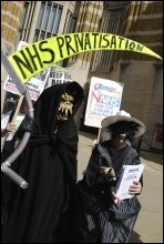 NHS demonstration, photo Paul Mattsson