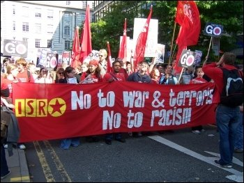 Young people protest against war and terrorism, photo Manchester Socialist Party