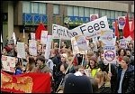 Students protest against fees on the Campaign to Defeat Fees demo in February, photo Socialist Party