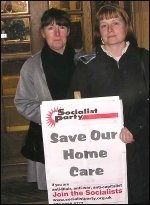 Care workers protest at privatisation in Waltham Forest, photo Alison Hill