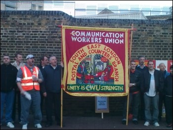 CWU strike: Postal workers on the picket lines in South east London, photo Paul Callanan
