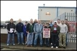 On the picket line at Bitterne in Southampton, photo Rob Emery
