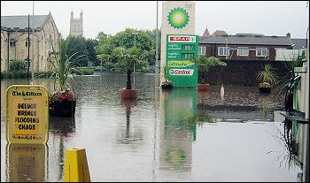 Flooding in the centre of Gloucester, 2007, photo Chris Moore