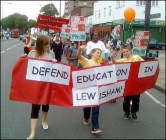 Lewisham edutcation protest, photo Paul Mattsson