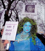 On the climate change demonstration in 2007, photo Paul Mattsson