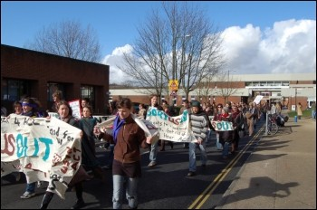 Sussex university students demonstrate, photo Socialist Students
