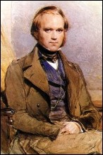 Water-colour portrait of Charles Darwin painted by George Richmond in the late 1830s, photo George Richmond