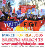 Youth Fight for Jobs campaign against unemployment - marching in Barking