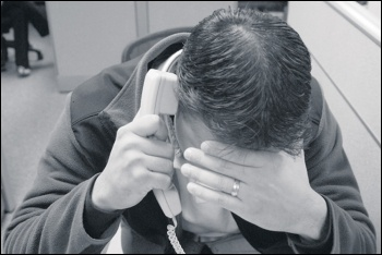 Call centre workers at a private tax credit cuts firm have to deal with suicidal claimants, photo by William Brawley (Creative Commons)