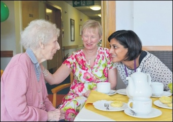Social care for the elderly is under threat, photo Joe D Miles for CQC (Creative Commons)
