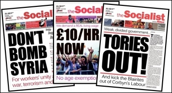 Some of the Socialist's campaigning front pages from the last year