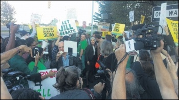 After Bernie Sanders refused to run against Hillary Clinton, Socialist Alternative called for a critical vote for Green left winger Jill Stein's presidential campaign, which attracted over a million votes