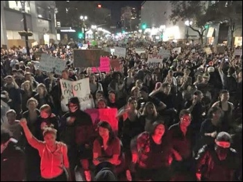 Oakland protest against Trump's victory called by Socialist Alternative, photo Socialist Alternative