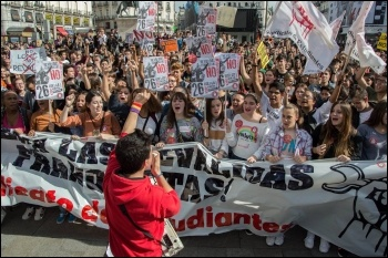 Spanish student strike, 26 October photo SE, photo SE