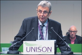 Unison's right-wing general secretary Dave Prentis, photo Paul Mattsson