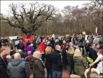Anti-fracking protesters, Sherwood Forest, 7.1.16, photo by Jane Crowter