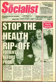 Issue 1 of the Socialist campaigned against the privatisation of the NHS