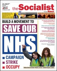 The Socialist is a campaigning newspaper which gives the working class a real voice