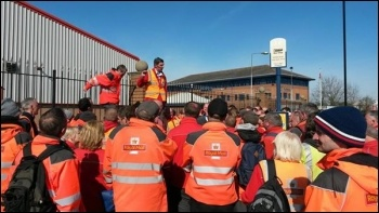 Doncaster postal workers' strike, 24.3.17, photo by A Tice