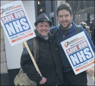 TUSC Doncaster mayoral candidate and NHS worker Steve Williams (left)