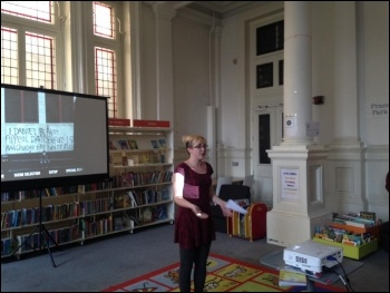 Helen Pattison introduces the film photo Mary Finch