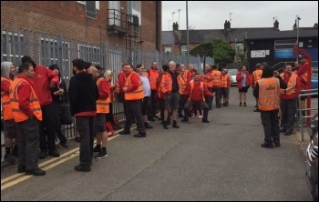 Royal Mail workers walkout, 8.5.17, photo by E Mids CWU