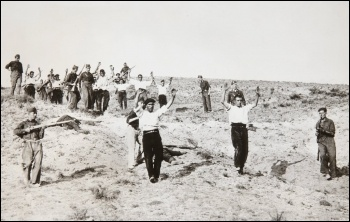 'POUM' militia fighters being captured at the Battle of Guadarrama - at the start of the Spanish Civil War, POUM fighters held the line before other forces got organised