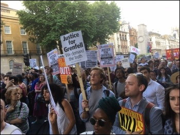 Marching in central London, photo Paula Mitchell