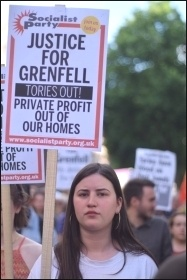 Grenfell demonstrators, 17.6.17  , photo Mary Finch