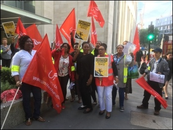 Barts Health Trust strike 4 July 2017 Barts picket line photo Paula Mitchell