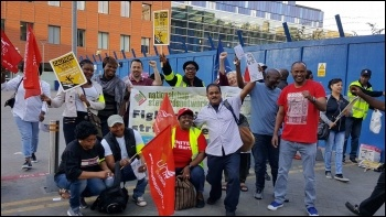 Barts Health Trust strike 4 July 2017 Royal London picket line photo Paula Mitchell