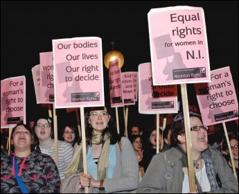 Fighting for abortion rights, photo by Paul Mattsson