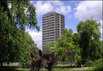 Bannerman House tower block on the Ashmole estate in south London, photo by Paul Farmer/CC