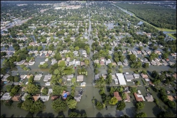 Aerial view of the flooding in Houston, photo Daniel Martinez/Air National Guard/CC