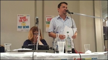 Rob Williams speaking, NSSN rally 10.9.17