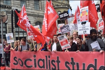 Young Socialists on 1 July 2017 Tories Out demonstration, photo Mary Finch