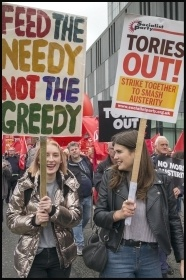 Tories Out demo, Manchester 1.10.17, photo Paul Mattsson