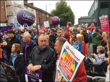 Tories Out demo, 1st October 2017, Manchester, photo by Mark Evans