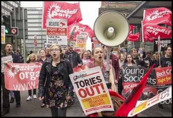 Young Socialists contingent, 1st October 2017, Manchester, photo by Paul Mattsson