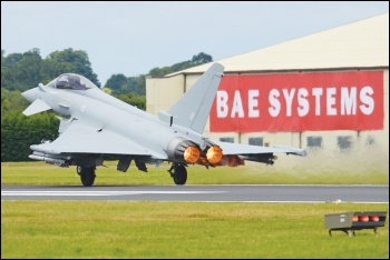 BAE Typhoon jet, photo by Alan Wilson/CC