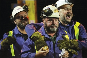 'We're Still Here' follows the struggle of Port Talbot steel workers against closure, photo by Dimitris Legakis/National Theatre Wales