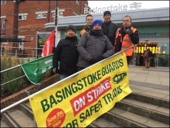 Basingstoke picket, 8.1.18, photo by N Chaffey