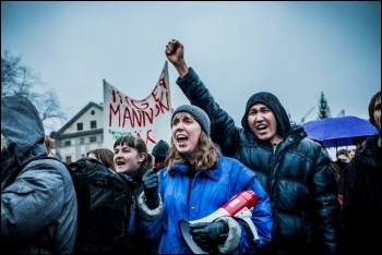 School students striking against deportations in Sweden, 12.12.17, photo by Natalia Medina/Offensiv