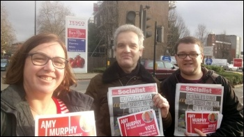 Lambeth Socialist Party campaigning for Amy Murphy 13 January 2018, photo Lambeth Socialist Party