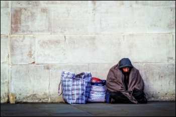 The Tory government has conducted mass arrests of homeless eastern Europeans, photo by Garry Knight (CC)