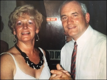 Maureen Mulhearn with her husband, Tony